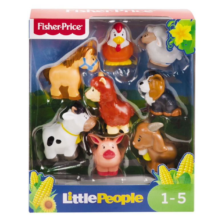 Fisher-Price Little People 8pk Animal Set Assorted, , hi-res