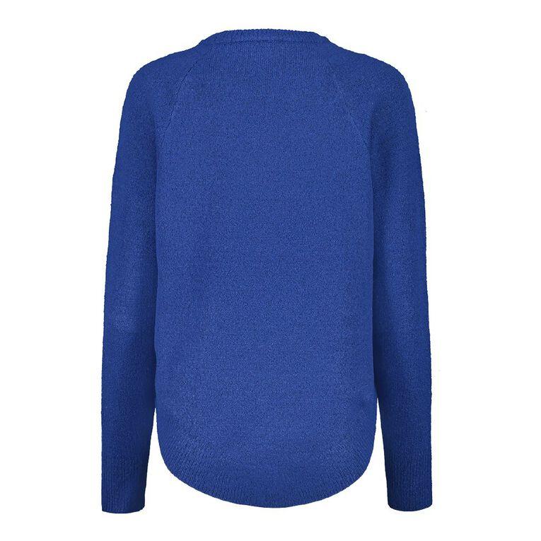H&H Scoop Hem Spongy Knit, Blue Dark, hi-res image number null