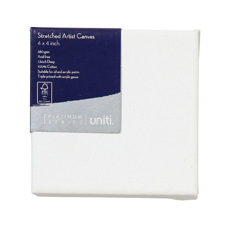Uniti Platinum Canvas 4x4 Inches 380Gsm, , hi-res