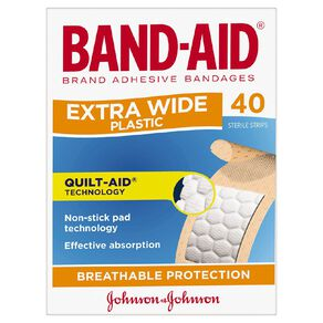 Band Aid Plastic Strips Extra Wide 40s