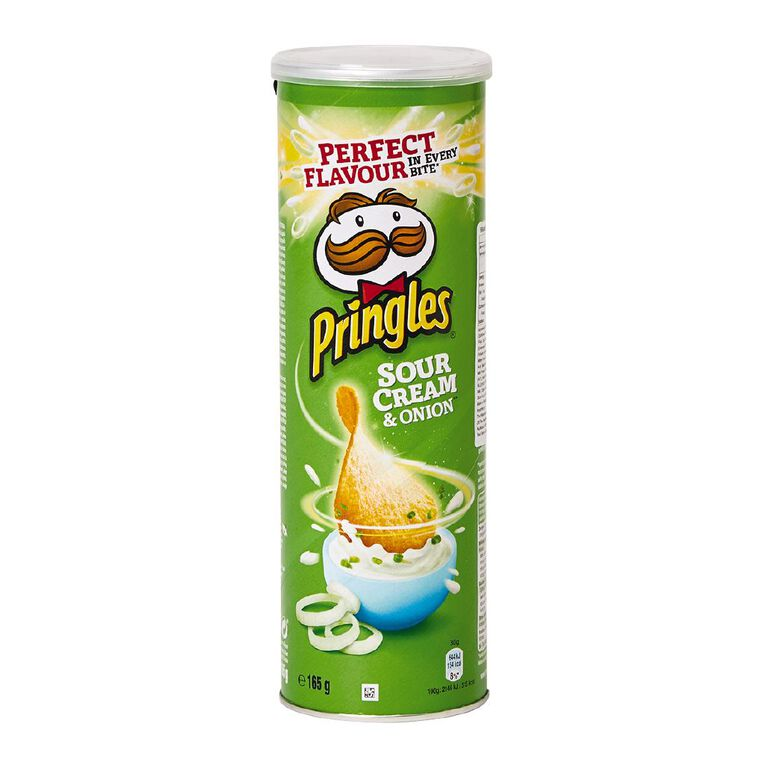 Pringles Sour Cream & Onion 165g, , hi-res