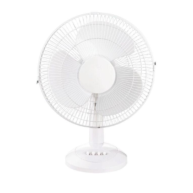 Living & Co Desk Fan 30cm White, , hi-res