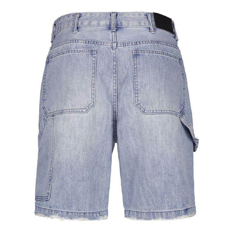 Garage Men's Denim Carpenter Shorts, Denim Light, hi-res
