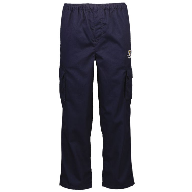 Schooltex Onewhero Area School Drill Pants with Embroidery, Navy, hi-res