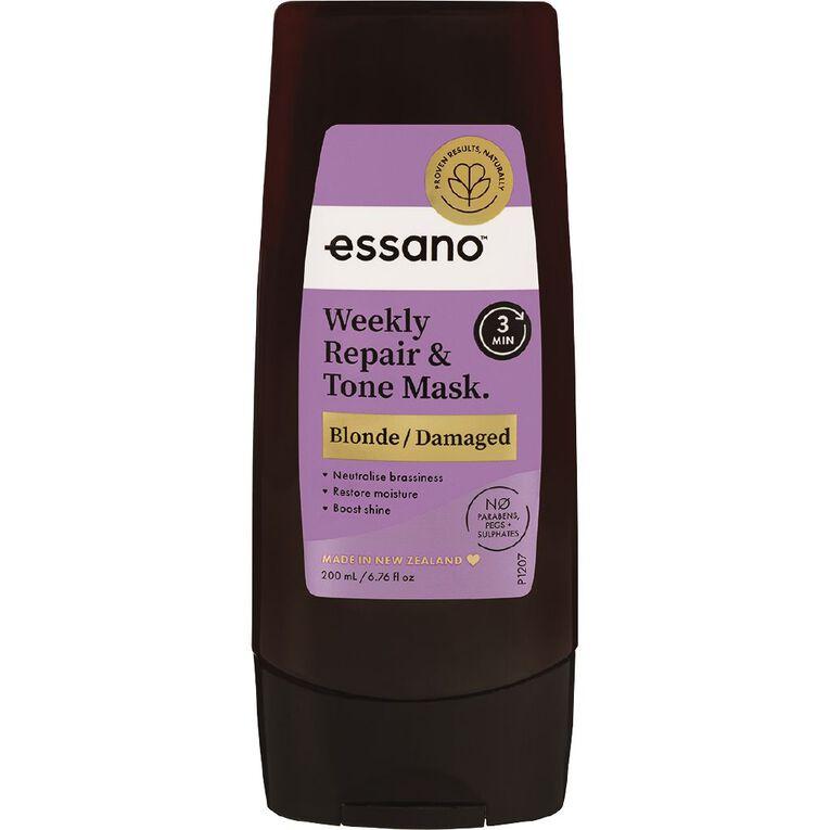 Essano Blonde Weekly Repair & Tone Mask 200ml, , hi-res