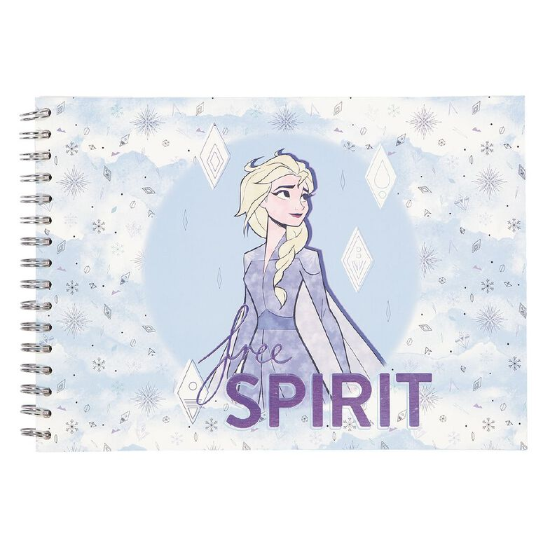 Frozen Disney Sketch Pad Elsa Blue Light A4, , hi-res