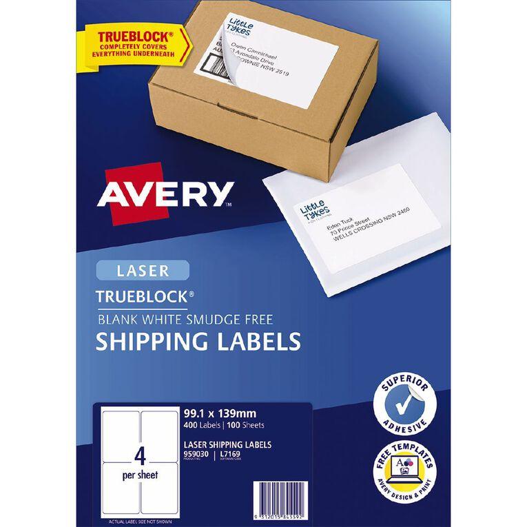 Avery Laser Labels L7169-4 Pack 100, , hi-res