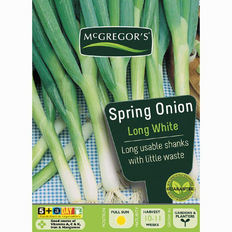 McGregor's Long White Spring Onion Vegetable Seeds, , hi-res
