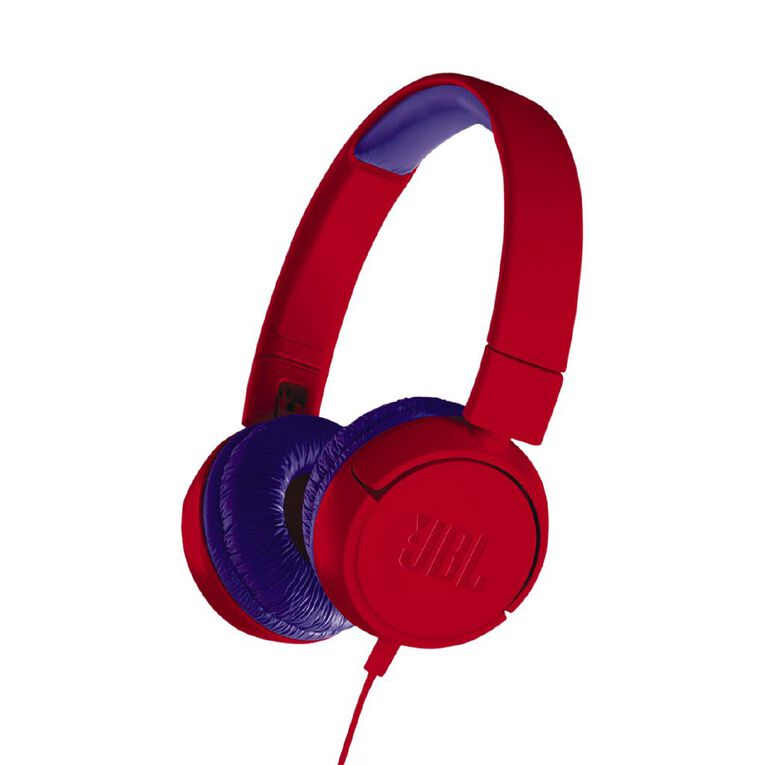 JBL JR300 Wired Headphones Red, , hi-res