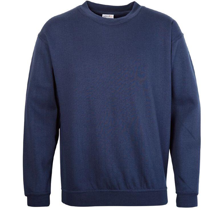 Schooltex Adults' Fleece Sweatshirt, Navy, hi-res