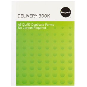 WS Delivery Book Duplicate Ncr 50 Forms Green A5