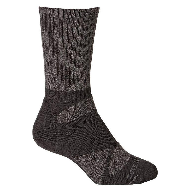 Darn Tough Men's Rib Crew Socks 2 Pack, Charcoal, hi-res