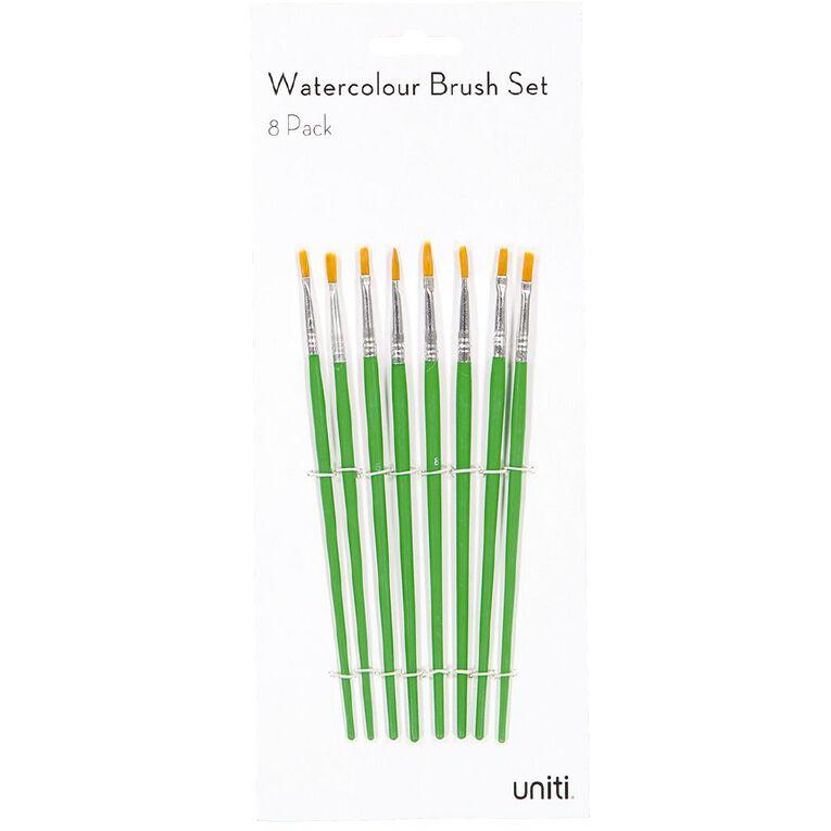Uniti Brush Set Watercolour 8 Piece, , hi-res