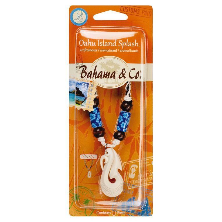 Bahama & Co Car Air Freshener Bone Hook Necklace Oahu Island Splash, , hi-res