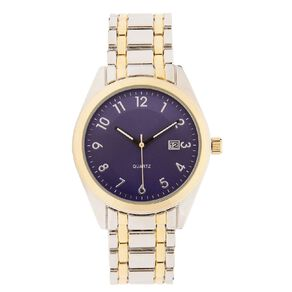 Eternity Men Classic Analogue Steel Watch Silver Gold