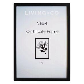 Living & Co Value Certificate Frame Black