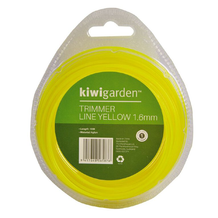 Kiwi Garden Trimmer Line Yellow 1.6mm/15m, , hi-res
