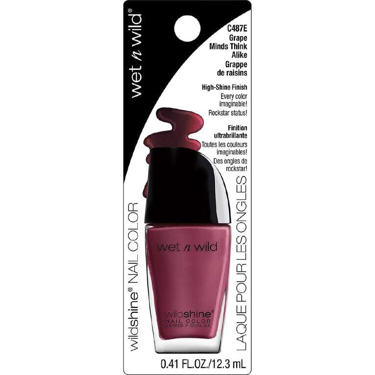 Wet n Wild Wild Shine Nail Color Grape Minds Think Alike, , hi-res