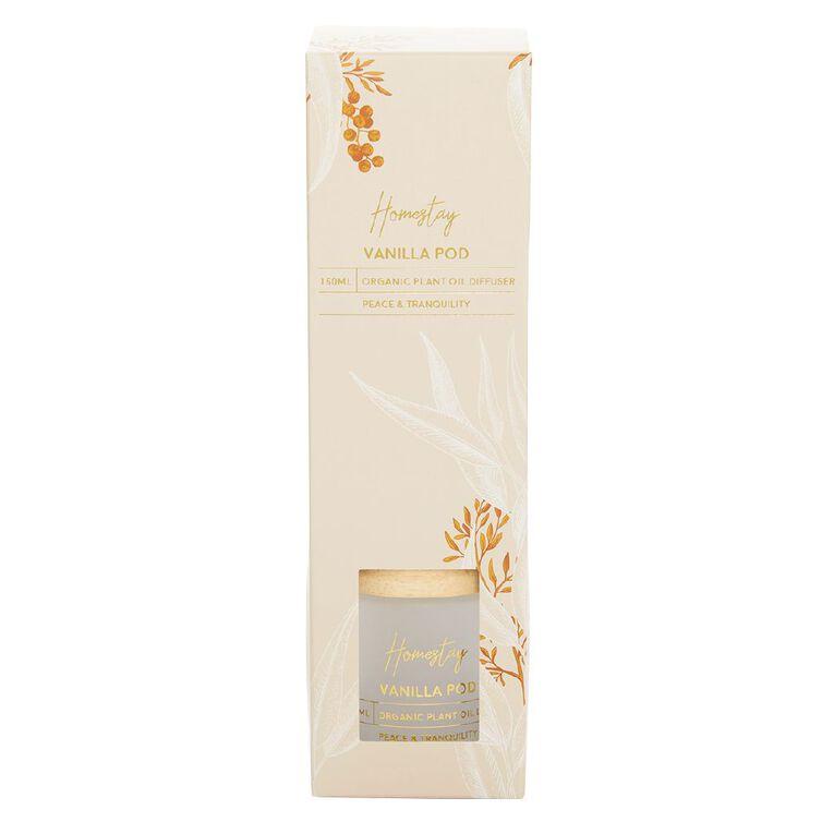 Living & Co Homestay Diffuser Vanilla Pod White 150ml, White, hi-res
