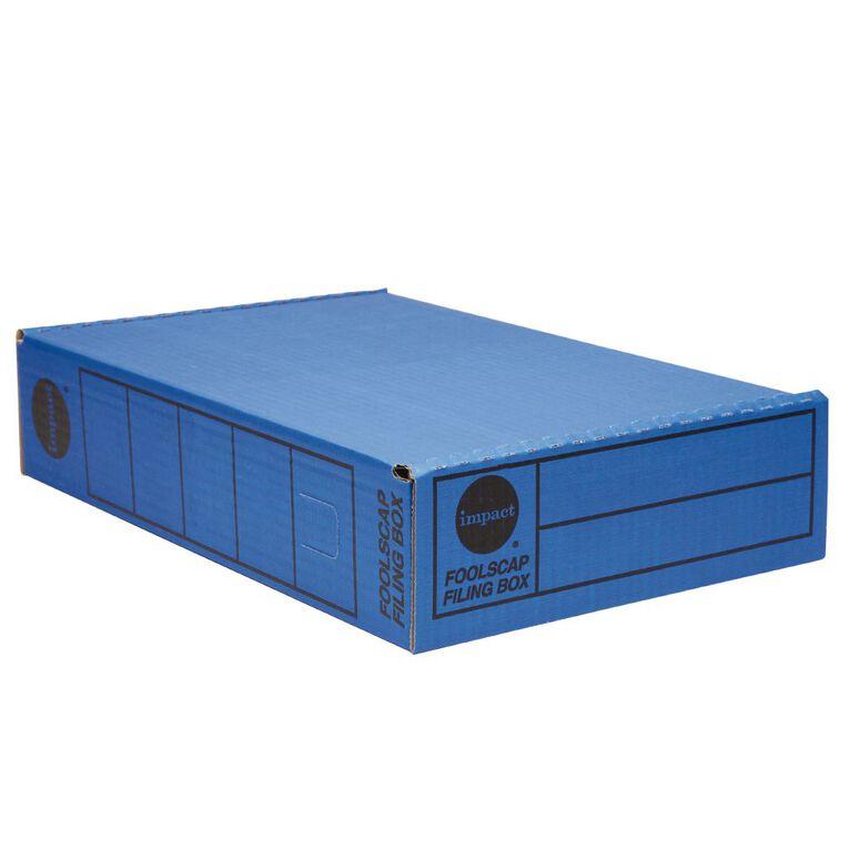 Impact Storage Box Foolscap Blue, , hi-res