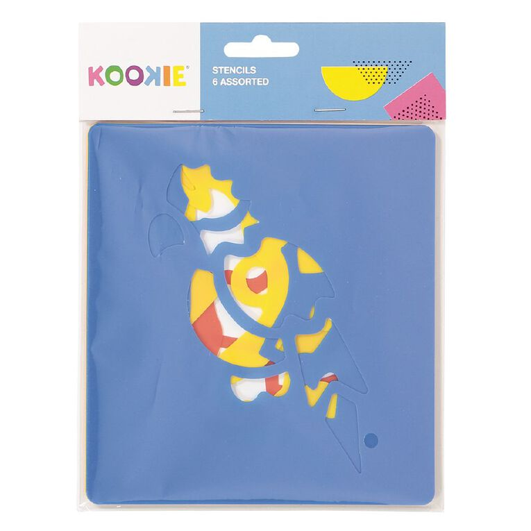 Kookie Stencil Set Assorted 6 Pack, , hi-res