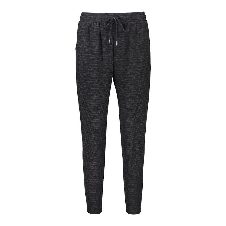H&H Women's Stretch Harem Pants, Black, hi-res