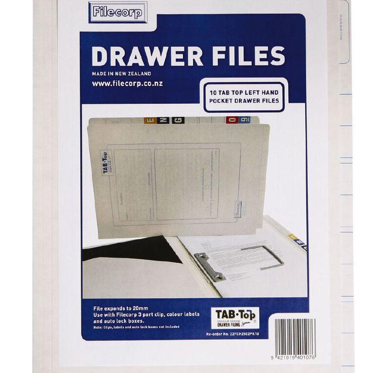 Filecorp 2502 Top Left Hand Pocket File 10 Pack White, , hi-res