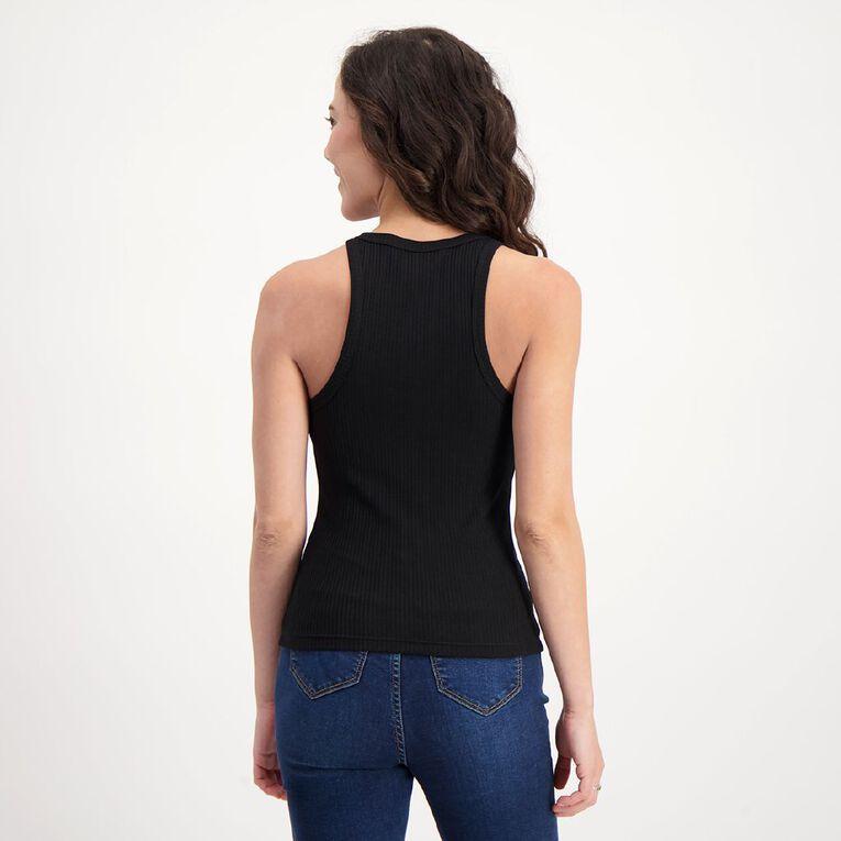 H&H Women's Sleeveless Slim Rib Tank, Black, hi-res image number null