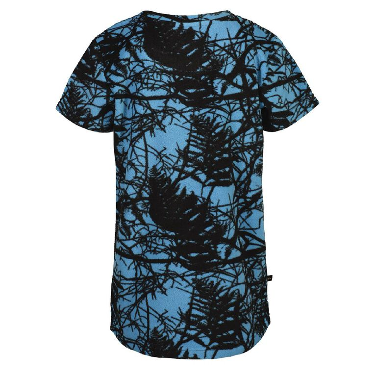 Back Country Microfleece Tee, Blue, hi-res