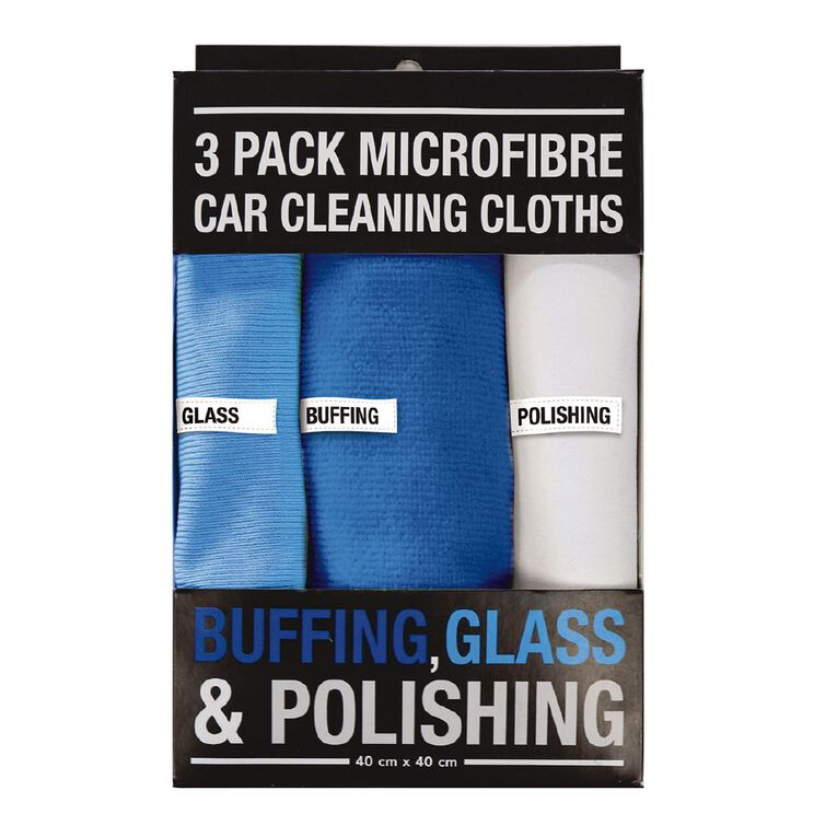 Microfiber Car Cleaning Clothes 3 Pack 40cm x 40cm, , hi-res