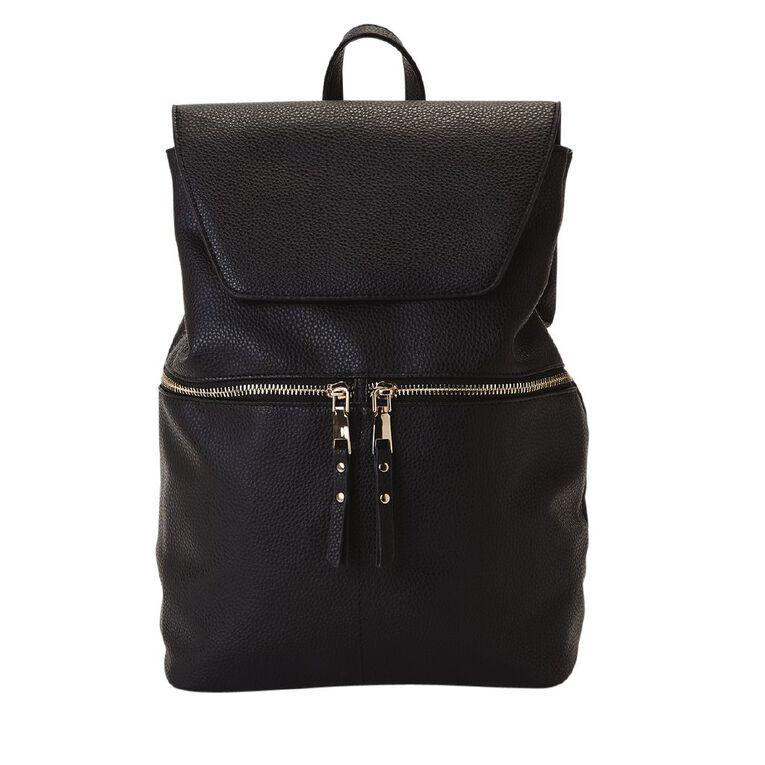 H&H Sara Mini BackPack Handbag, Black, hi-res