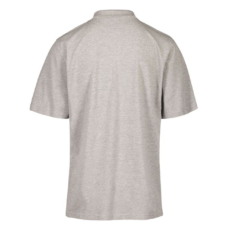 Schooltex Waiuku College Short Sleeve polo with Embroidery, Grey Marle, hi-res