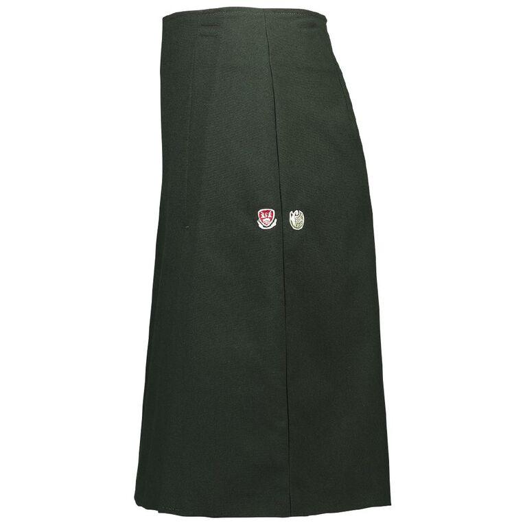 Schooltex Kamo High Inverted Pleat Skirt, Green, hi-res