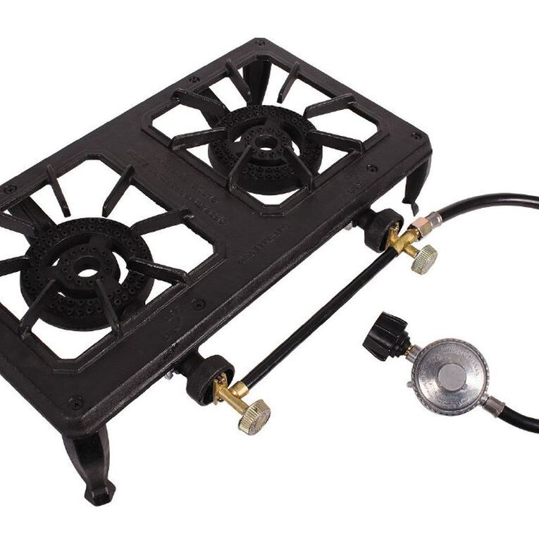 Gascraft Double Country Cooker With Hose and Regulator, , hi-res