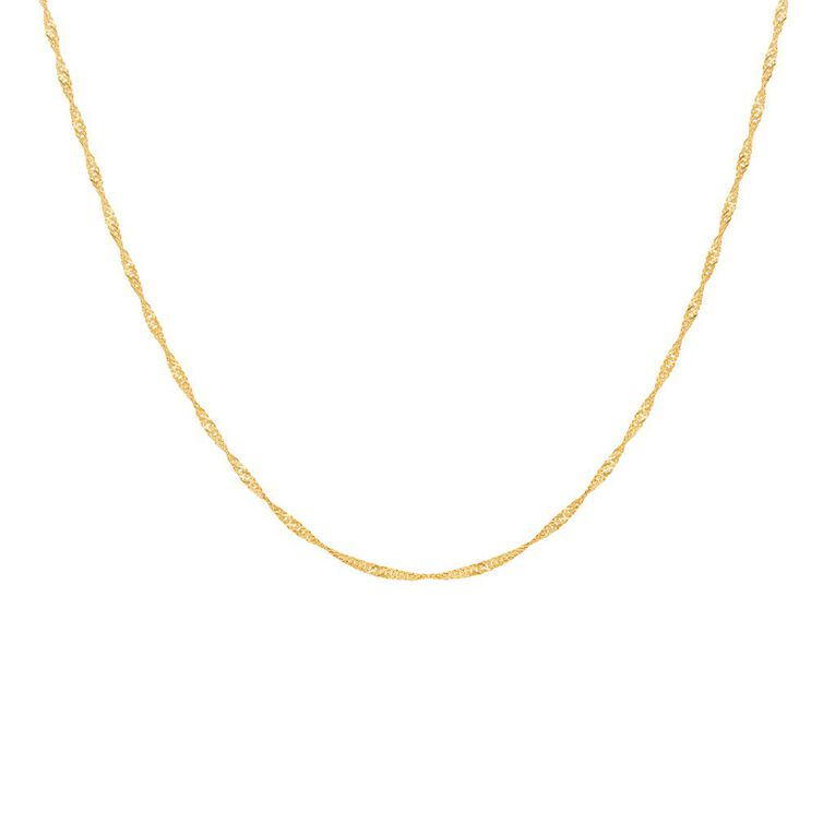 9ct Gold Singapore Chain 45cm, , hi-res