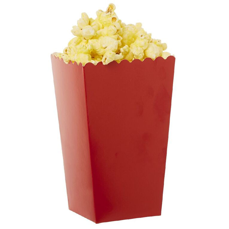 Party Inc Popcorn Boxes Red 8 Pack, , hi-res