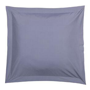 Living & Co Pillowcase Euro Cotton Rich 270TC Blue 65cm x 65cm
