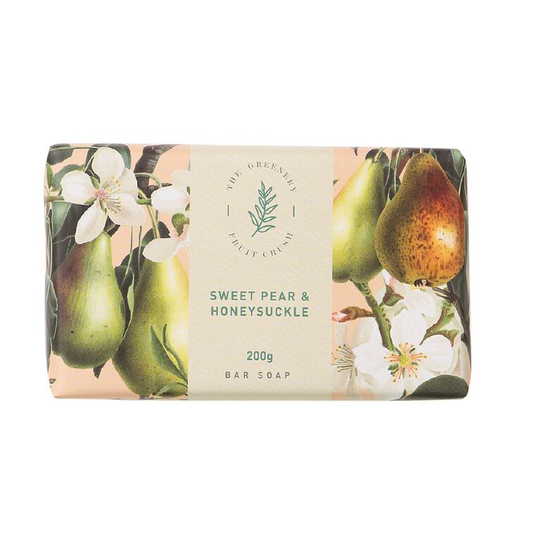 Winter Fruit Sweet Pear And Honey Suckle Soap 200g, , hi-res