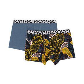 B FOR BONDS Men's Printed Trunks 2 Pack