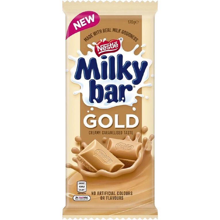 Nestle Milkybar Gold Block 170g, , hi-res