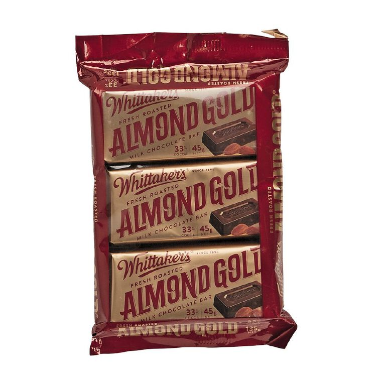 Whittaker's Almond Gold 3 Pack, , hi-res