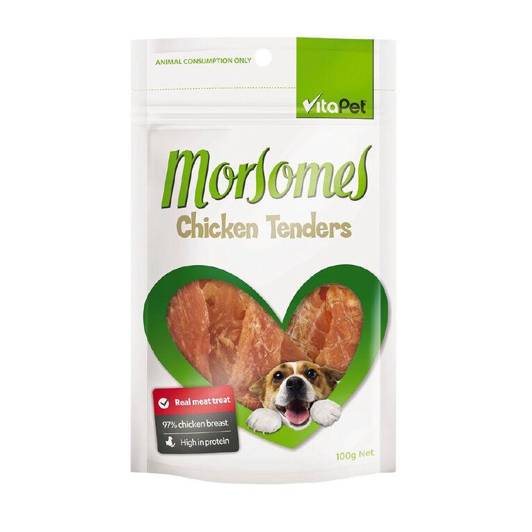 Vitapet Morsomes Chicken Tenders 100g, , hi-res