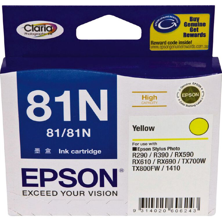 Epson Ink 81N Yellow (805 Pages), , hi-res
