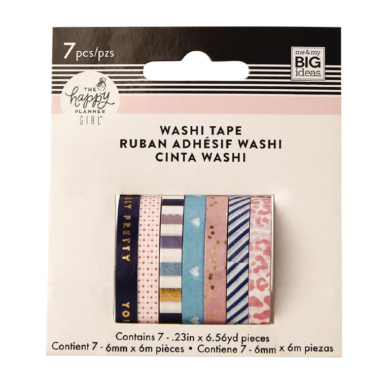 Me & My Big Ideas Washi Tape 6mm x 6m Glam Girl 7 Pack, , hi-res
