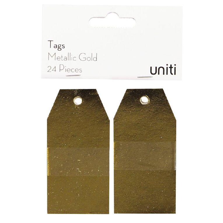 Uniti Tags 24 Piece Metallic Gold, , hi-res