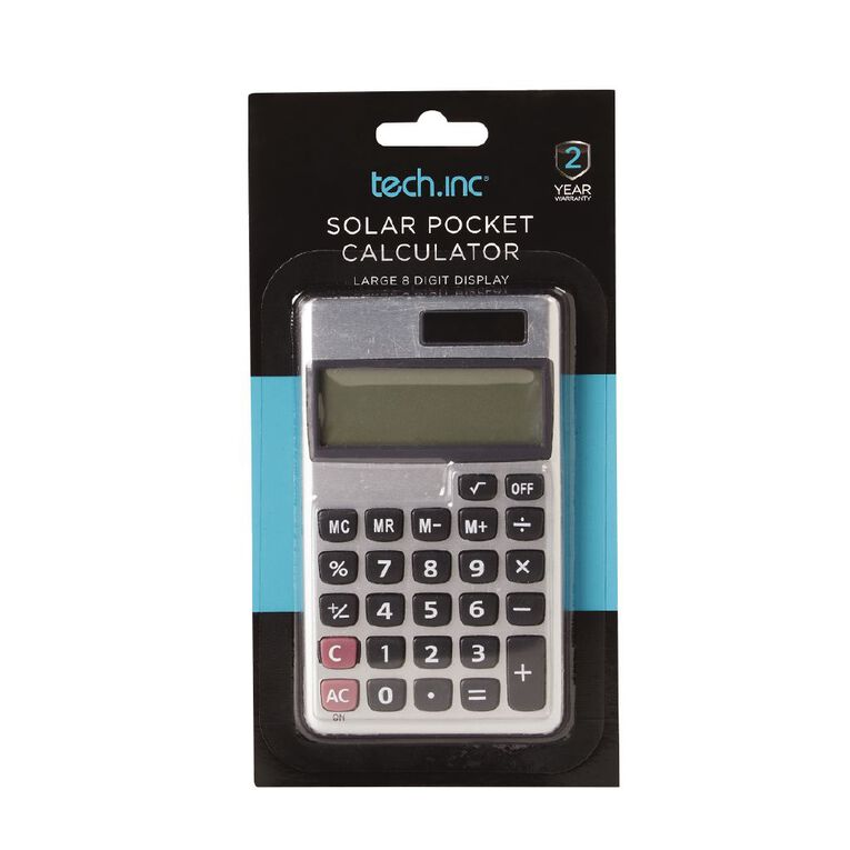Tech.Inc Solar Pocket Calculator, , hi-res