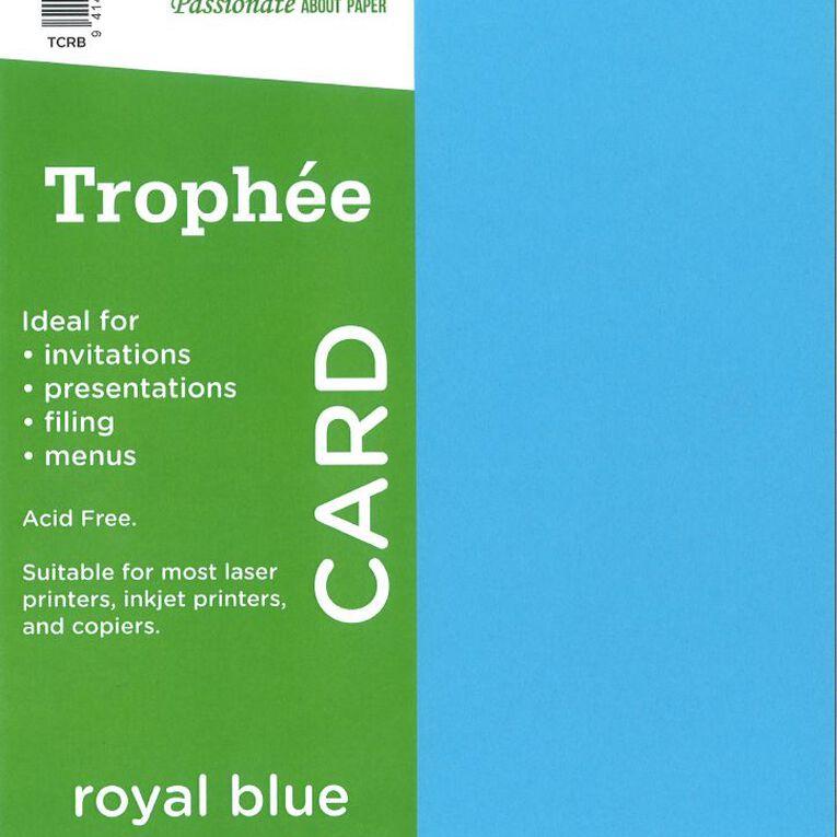 Trophee Card 160gsm 15 Pack Royal Royal A4, , hi-res