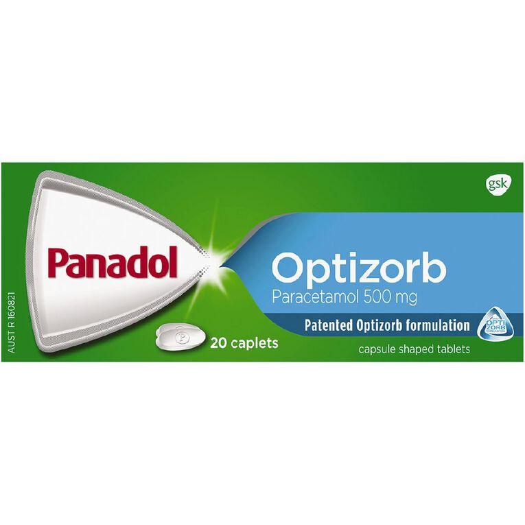 Panadol Optizorb Caplets 20s - LIMIT OF 1 PER CUSTOMER, , hi-res