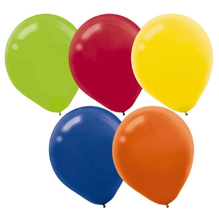 Amscan Bright Colours Latex Balloons 30cm Assorted 15 Pack, , hi-res