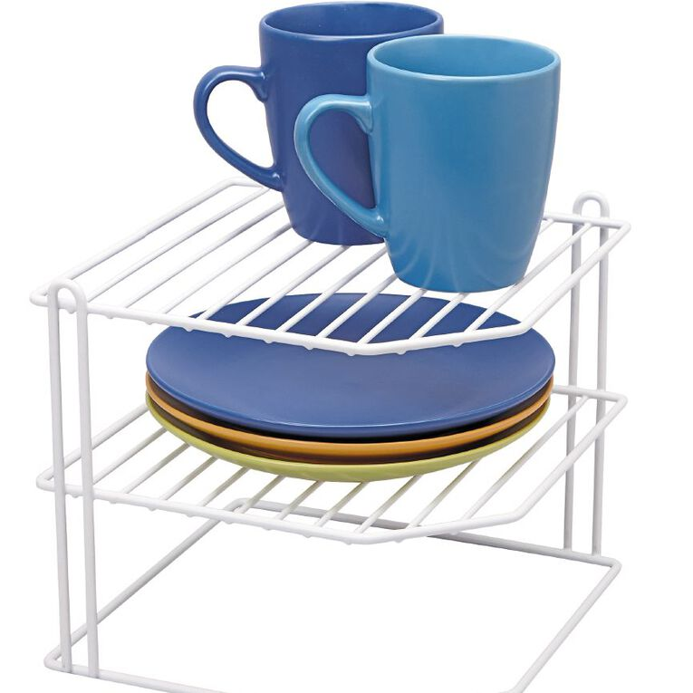 Living & Co Pantry Wire Corner Plate Rack, , hi-res